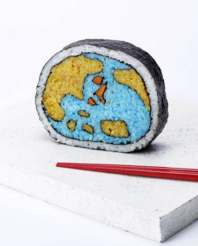 Un sushi décoré
