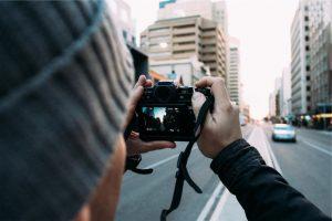 Appareil photo dans la rue